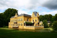 城堡Nienoord,韭葱,格罗宁根,荷兰 库存照片