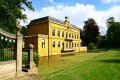 城堡Nienoord,韭葱,格罗宁根,荷兰 免版税库存照片