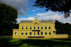城堡Nienoord,韭葱,格罗宁根,荷兰 免版税图库摄影