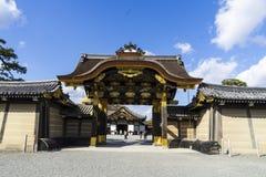 城堡nijo ninomaru宫殿 免版税库存图片