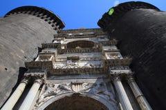 城堡Nuovo,意大利 库存照片