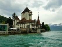 城堡oberhofen 库存图片