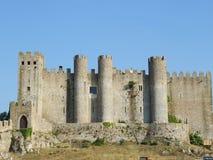 城堡obidos 库存图片