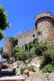 城堡obidos 免版税库存图片