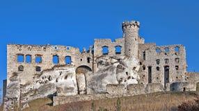 城堡ogrodzieniec波兰废墟 库存照片