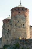 城堡olavinlinna 图库摄影