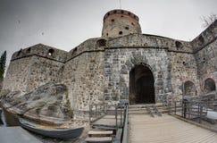 城堡olavinlinna 免版税库存图片