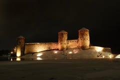 城堡olavinlinna 库存照片