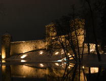 城堡olavinlinna 免版税库存照片