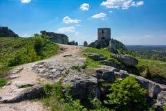 城堡olsztyn 免版税库存照片
