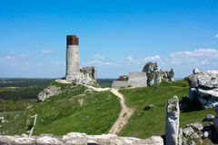 城堡olsztyn 库存图片