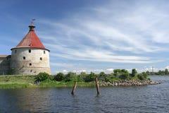城堡oreshek 库存照片