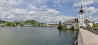 城堡Ort, Traunsee 库存图片