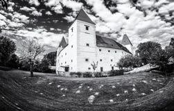 城堡Orth,奥地利,无色 库存图片