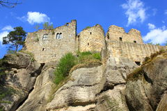 城堡oybin 免版税库存照片