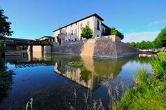 城堡pagazzano 免版税图库摄影