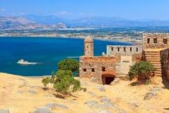 城堡palamidi 免版税库存图片