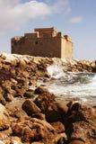 城堡paphos 免版税图库摄影