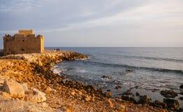 城堡paphos 库存照片