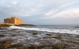城堡paphos 库存图片