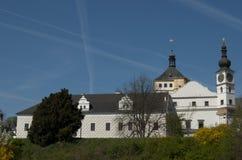 城堡pardubice 库存图片