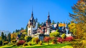 城堡peles罗马尼亚sinaia 库存图片