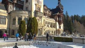 城堡peles罗马尼亚sinaia 股票录像