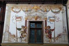 城堡Peles,装饰 库存图片