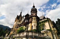 城堡peles 免版税库存图片