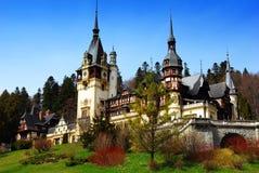 城堡peles sinaia 库存图片