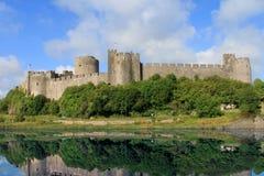 城堡pembroke威尔士 库存图片
