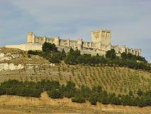 城堡penafiel西班牙 免版税图库摄影