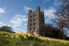 城堡penrhyn 库存图片
