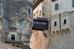 城堡pernstejn 库存照片
