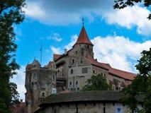 城堡Pernstejn 免版税库存图片