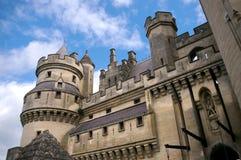 城堡pierrefonds 库存图片