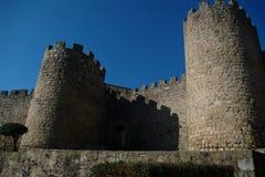 城堡plasencia墙壁 免版税库存照片