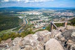 城堡Pusty hrad,斯洛伐克 免版税库存照片