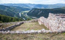 城堡Pusty hrad,斯洛伐克 免版税图库摄影