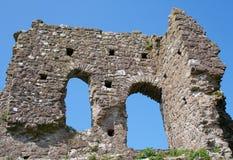 城堡roches破坏了视窗 库存照片