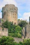 城堡rumeli 库存图片