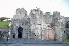 城堡Rushen在Castletown在曼岛 图库摄影