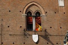 城堡s视窗 免版税库存图片