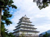 城堡s shimabara 库存图片