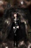 城堡s vampira 免版税库存图片