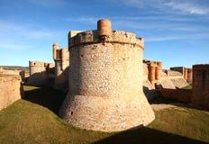城堡salses 图库摄影