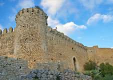 城堡santueri 免版税库存图片