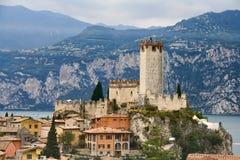 城堡scaligero 免版税图库摄影