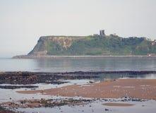 城堡scarborough视图 图库摄影