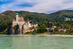 城堡Schoenbuehel 免版税库存图片